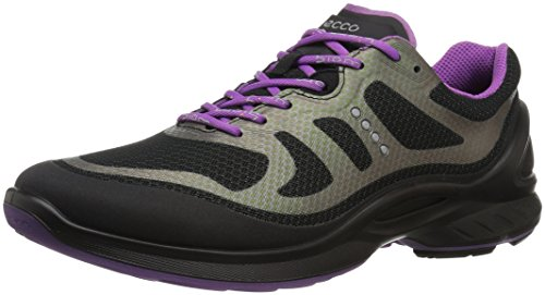 ECCO Women's Biom Fjuel Tie Walking Shoe, Black/Black, 38 EU/7-7.5 M US (Womens Ecco Shoes Athletic)