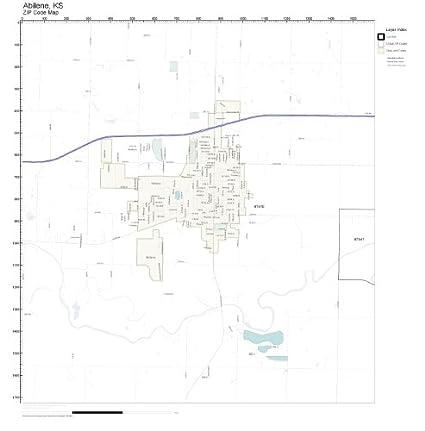 Amazon Com Zip Code Wall Map Of Abilene Ks Zip Code Map Laminated