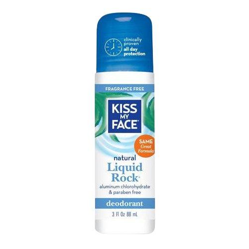 Kiss My Face Liquid Rock Roll-On Deodorant, Fragrance Free, 3 oz