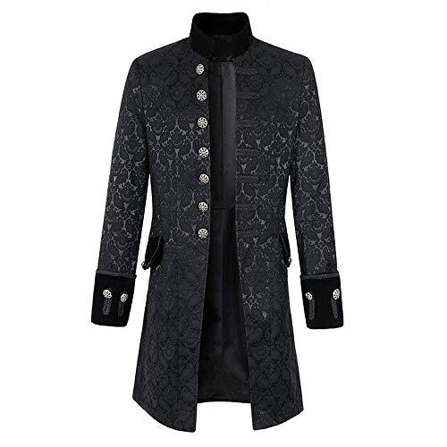 La Costume De Uniforme Manteau Shennanji Des Gothique Mode Praty Gilet Hommes D'impression Noir Outwear Veste qz4Pt4I