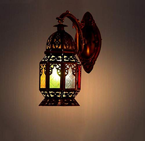 Outdoor Wall Light Stained Glass in US - 2