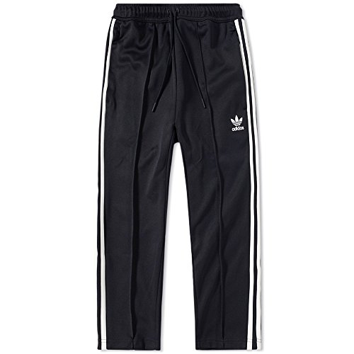 adidas Originals Men's Superstar Relaxed Fit Crop Pant, Black/White, L (Relaxed Fit Crop)