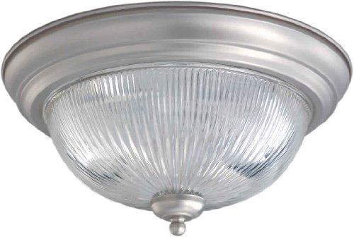 Kichler Barrington 3 Light 22 In Cylinder Vanity Light At: Aurora Lighting Brushed Nickel Finished Flush Mount With