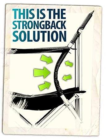 portavasos reposabrazos Asiento de 50 cm de Ancho Silla Plegable de Playa ergon/ómica con Soporte para la Lordosis Strongback Low Gravity