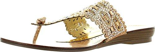 Extrem Womens Sima Mode Glittrande Flip Flop Sandaler Guld