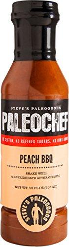 Bbq Sauce Chicken (Steves Paleogoods, Sauce BBQ Peach Paleochef, 12 Fl Oz)