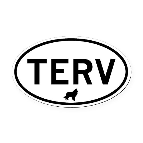CafePress - TERV (Belgian Tervuren) Oval Car Magnet - Oval Car Magnet, Euro Oval Magnetic Bumper Sticker