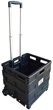 Carrito de transporte MP Essentials. Carrito de transporte, capacidad de 40 kg, ideal para las compras y campamento negro: Amazon.es: Hogar