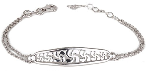 Adens-Jewels-Bijoux-Basques-Croix-Basque-Bracelet-Gourmette-Adens-Jewels-Bijoux-Basques-Argent-Mixte-Rglable-Dimension-Longueur-rglable-de-15--17-cm