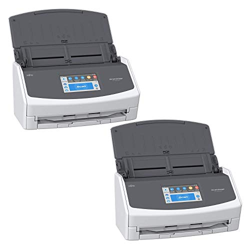 Fujitsu ScanSnap iX1500 Color Duplex Document Scanner with Touch Screen for Mac and PC, White Bundle (2-Pack)