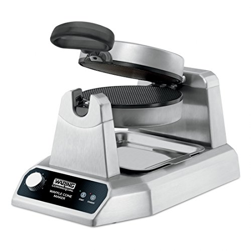(Waring Commercial WWCM180 Single Waffle Cone Maker, Silver)