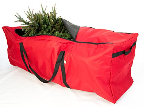 Artificial Christmas Tree Box - Santas Bags Rolling Tree Storage Duffel, for 6 to 9-Foot Trees