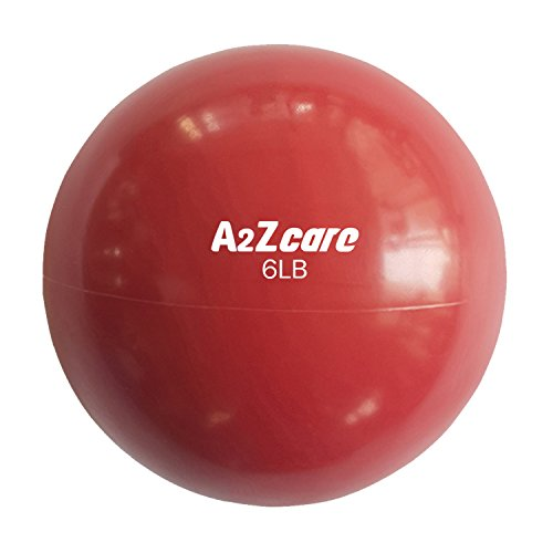 A2ZCARE Toning Ball - Soft Weighted Mini Ball/Medicine Ball (Red (6lbs))