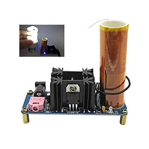 Aoshike DC 15-24V 2A Micro Music Tesla Coil Plasma Speaker diy kits plasma loudspeaker Tesla Wireless Transmission Diy KITS ZVS
