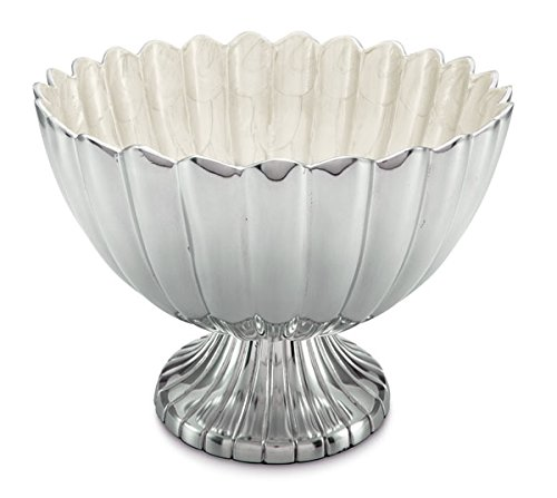 Julia Knight Peony Snow - Julia Knight Peony Pedestal Gala Bowl, 14.5-Inch, Snow, White