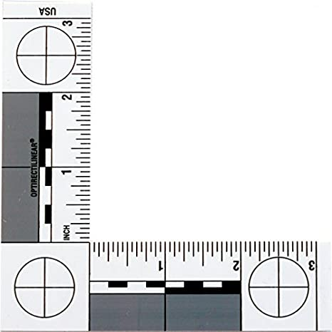 image about Printable Architectural Scale titled Criminal offense Scene Photomacrographic Scales (No.2-Inches)