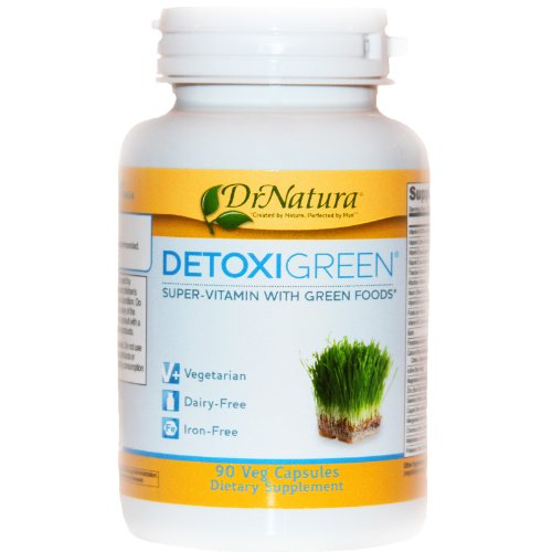 DETOXIGREEN full spectrum Multi Vitamin, Daily Detox with Antioxidant Support from Dr Natura Colonix / Toxinout