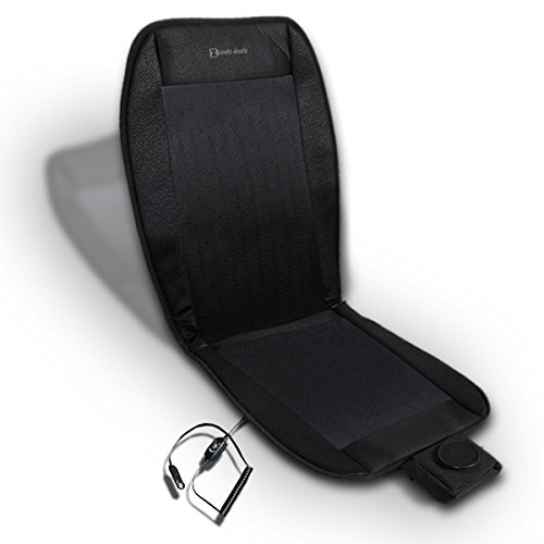 Zento Deals Automotive Car Premium Quality Black Seat Cooler Cushion 12V- Perfect for Sweaty Back on Intense Summer Days- Convenient, Comforter and Release Cool Air Seat Cushion (Carrier Air Conditioning Prices)