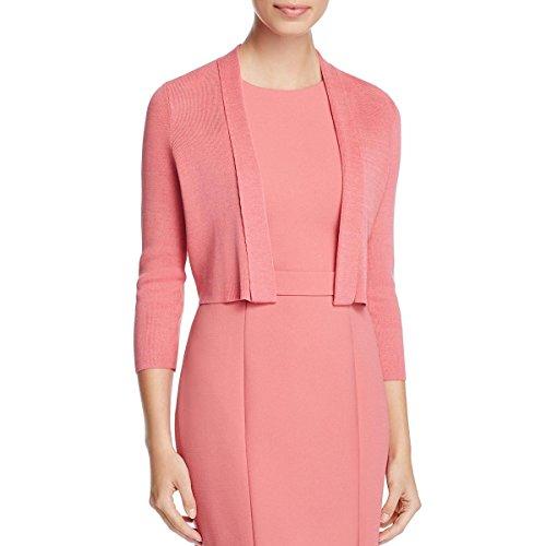 Hugo Boss BOSS Womens Fern Cropped Open Front Cardigan Sweater Pink XL