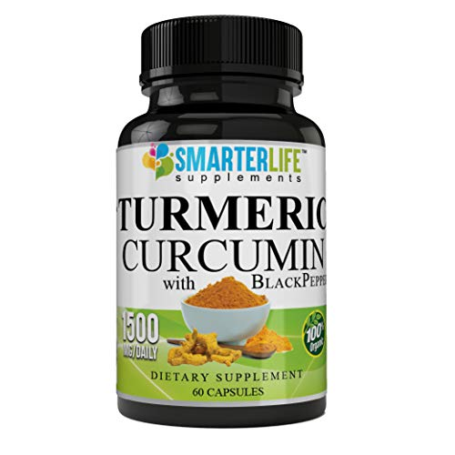 Highly Concentrated Turmeric Curcumin 1500 MG Capsules, Cardiovascular Health, Joints Support and Anti Aging Supplement (Best Anti Aging Supplements 2019)
