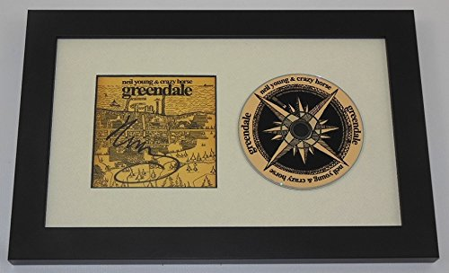 Neil Young Greendale Hand Signed Autographed Music Cd Compact Disc Framed Display Loa