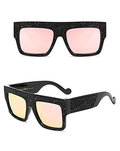 Gradient de homme Lunettes Designer soleil Marque unisexe sol Aprigy Pink pour étoiles soleil de Femme de Oculos surdimensionné Dim Lunettes Black pWTq7z