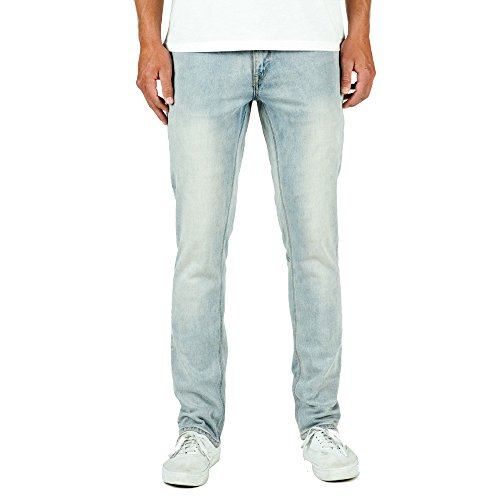 Volcom Men's Vorta Slim Fit Denim Jeans, Sure Shot Light Was