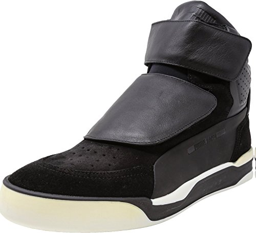 - PUMA Men's MCQ Move Mid Black/Black/White High-Top Basketball Shoe - 12M