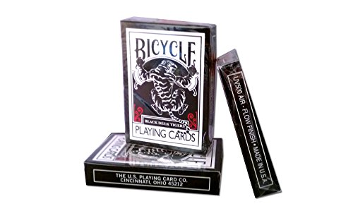 Bicycle Black Tiger Playing Cards by Ellusionist Finish