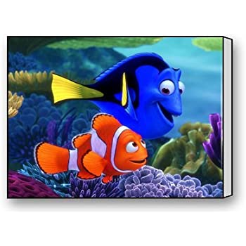 Amazon.com: Finding Nemo Dory Marlin Custom Modern Gallery Wrapped ...