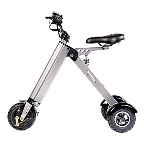 TopMate ES31 Electric Scooter Mini Foldable Tricycle Weight 14KG with 3 Gears Speed Limit 6-12-20KM/H and 3 Shock Absorbers | for Travel and Leisure Activities Easy to Put in The Trunk