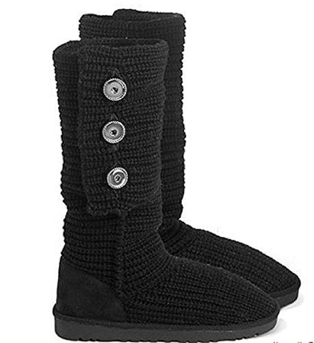 Black Aspen Boots Snaps Sweater Ginger wq1SZTT