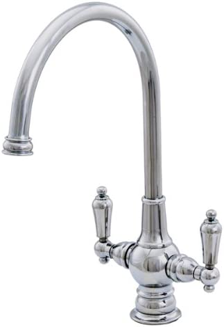 Water Creation F3-0001-01 Single Hole Goose Neck Spout Bathroom Faucet