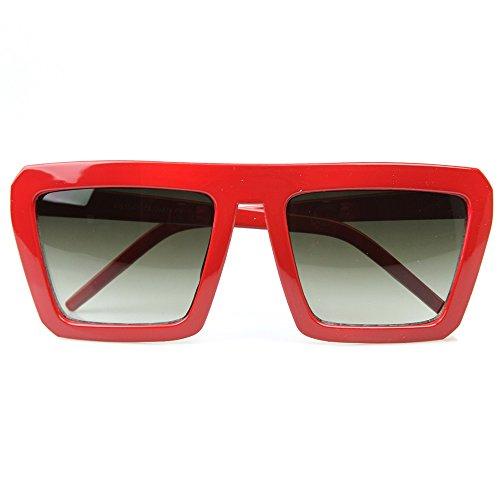 superior de De la Suave ESCUELA VIEJA Rojo mod parte Gafas de de KISS® VENDIMIA mujer plana sol hombre rapero la 7qwZznd