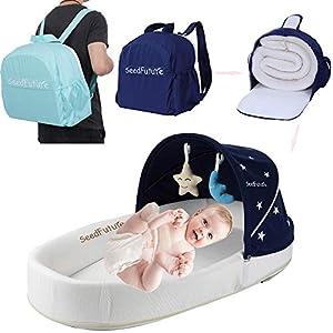 Bébé Berceaux Bercelonnette Cododo Couffins Portable Lits de Voyage Pour tout-petits Enfant Fille Garçon Cadeau (Bleu B) 5