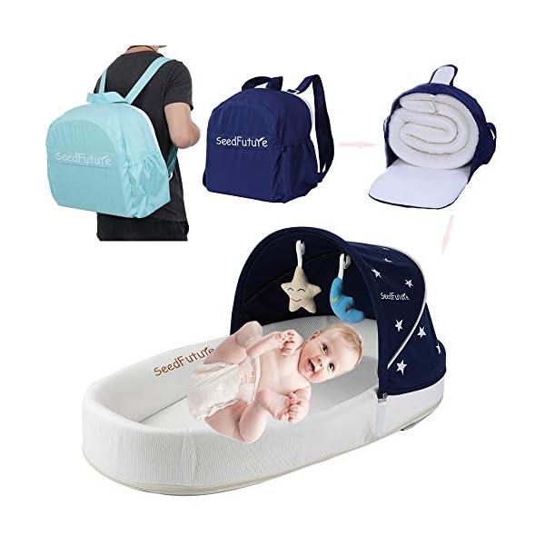 Bébé Berceaux Bercelonnette Cododo Couffins Portable Lits de Voyage Pour tout-petits Enfant Fille Garçon Cadeau (Bleu B) 1