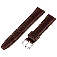 Hadley-Roma Men's MSM881RB-180 18mm Brown Oil-Tan Leather Watch Strap