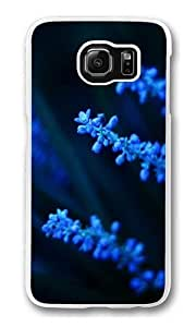 Samsung Galaxy S6 Case,Electric Blue Flower Polycarbonate Hard Case Back Cover for Samsung S6/Samsung Galaxy S6 Transparent