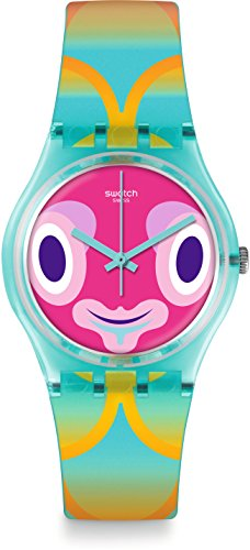 Swatch Originals Mr Blubby Multicolored Dial Plastic Strap Unisex Watch GL120