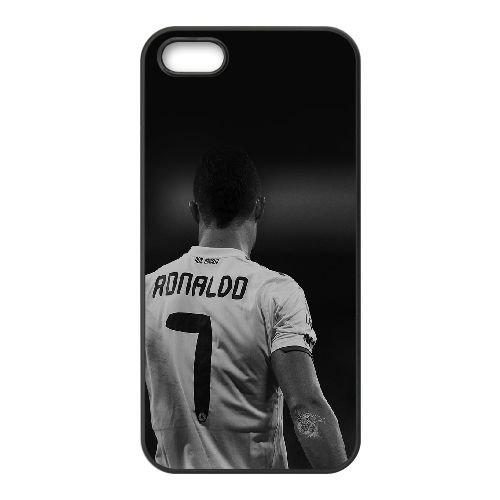 Hc Cristiano Ronaldo Real Madrid Football foncé plus MB48CT0 coque iPhone 4 4s cellulaire cas de téléphone coque T3QW2Y7LV