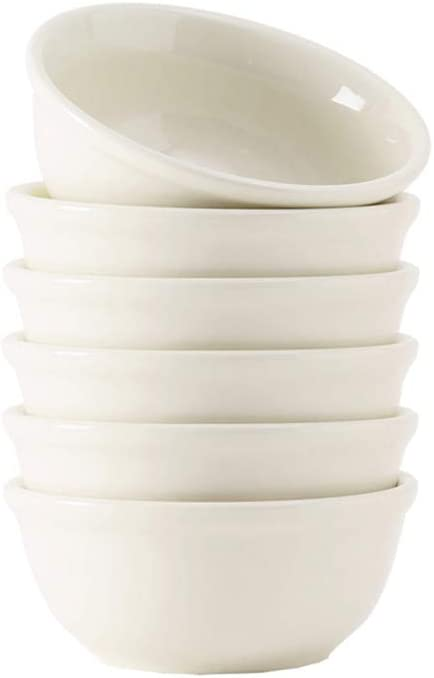 Tuxton Home THTRE020-6B Reno Ceramic Bowl, 22-Ounce, Eggshell White