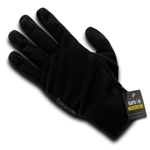 Rapdom Tactical Fleece Shooting Gloves, Black, Small