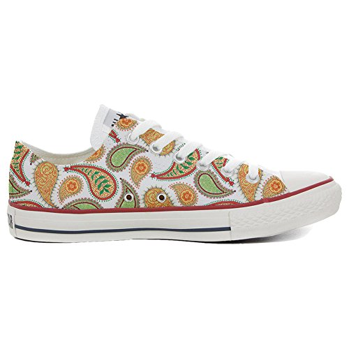 Converse All Star Slim Customized personalisierte Schuhe (Handwerk Schuhe) Quirky Paisley