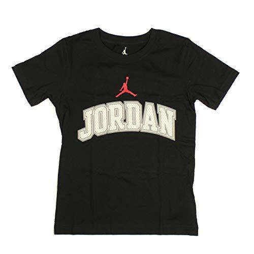 - Nike Boys Youth Air Jordan Athletic T Shirt (Medium, Black with White/Gray Jordan/Red Logo)