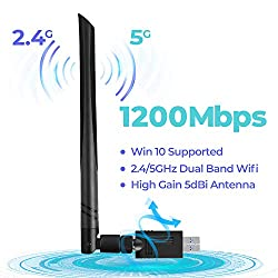 specification High-gain remote 5dBi antenna: Better wifi connection than other antenna's USB wifi adapter. Standard: 802.11ac, backward compatible with IEEE 802.11 a / b / g / n / ac wireless standard products. Support dual-band wireless: 2....