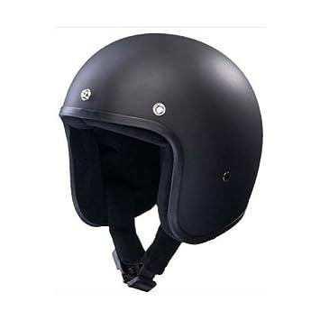 Casco Jet similar al Bandit, pequeño y homologado, color negro L negro mate