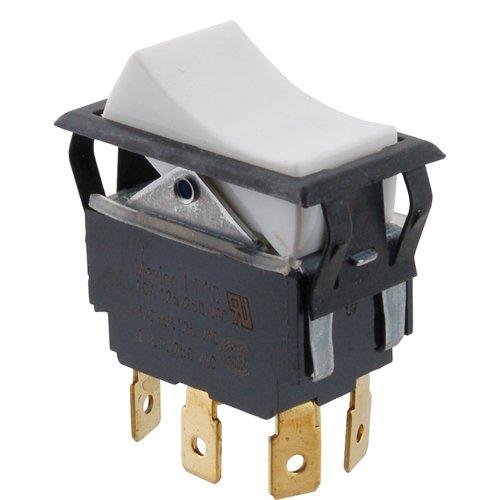 METRO SELECTOR ROCKER SWITCH, DPDT) TIGL721-1S-WH-FN-BLK
