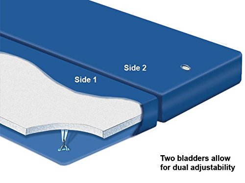 Shallow Fill Waterbed - Queen Dual Shallow Fill Waterbed Mattress with Liner and Fill&Drain Kit