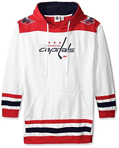 Profile Big & Tall NHL Washington Capitals Men's Double Minor Fleece Hoodie, 3X, Red