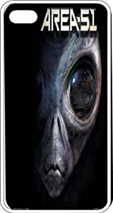 Area 51 In Nevada Large Grey Eyed Alien Clear Plastic Case for Apple iPhone 4 or iPhone 4s